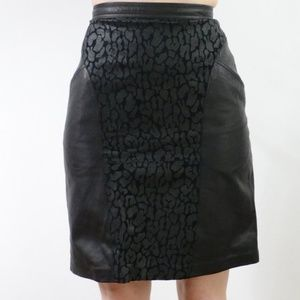 Vintage Leather Pencil Skirt